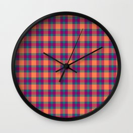 Nicki's Plaid Wall Clock