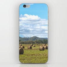 Hay bales on a sunny day iPhone & iPod Skin
