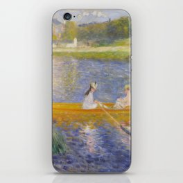 The Skiff (La Yole) by Pierre-Auguste Renoir iPhone Skin