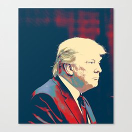 President Donald Trump - Make America Great Poster Canvas Print