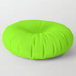 Bright Fluorescent  Green Neon Floor Pillow