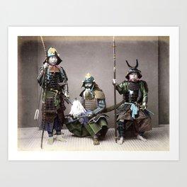 Kusakabe Kimbei - Samurai in Armour Art Print