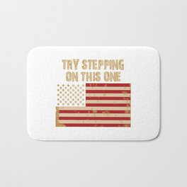 Try stepping on this flag Bath Mat