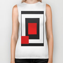 Geometric Abstraction - Red Biker Tank