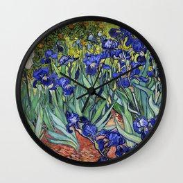 Irises by Vincent van Gogh Wall Clock
