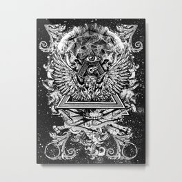 Illuminati Temple Crest Metal Print