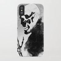 skeleton iPhone & iPod Cases featuring Skeleton by Jaaaiiro