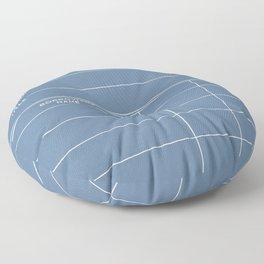 Library Card BSS 28 Negative Blue Floor Pillow
