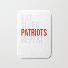 Eat Sleep Patriots Repeat Football Fan Bath Mat