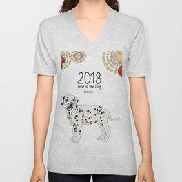 Year of the Dog - Dalmatian Unisex V-Neck