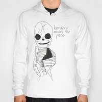 penis Hoodies featuring bonesy misses his penis by badNGO