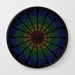 Togetherness- Interwoven Rainbow Texture Wall Clock
