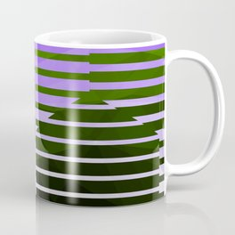 Love Molecules - Throwback Hexagon Geometry Abstract Purple Black White Green Coffee Mug