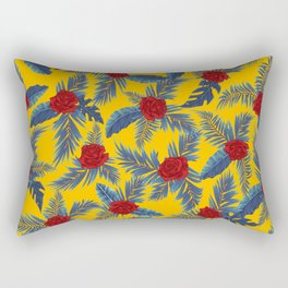 Abstract roses and leaves pattern Rectangular Pillow