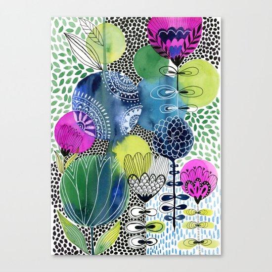 Indigo Blooms Canvas Print