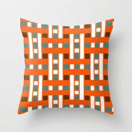 Cross Stitch Quilt Latter Design Chutes Weave Throw Pillow