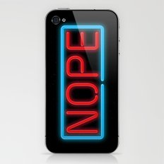 Nope Neon iPhone & iPod Skin