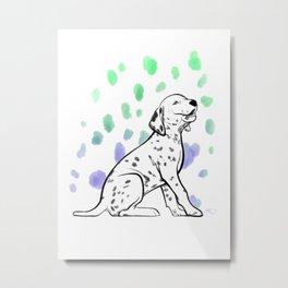 Dalmatiner Puppy Metal Print