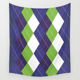 Seattle Argyle Wall Tapestry