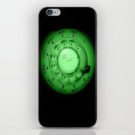 The dialer dials green iPhone Skin