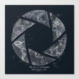 Traveling Lens (Dark Blue) Canvas Print