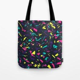 Colorful Madness Pattern Dark Tote Bag