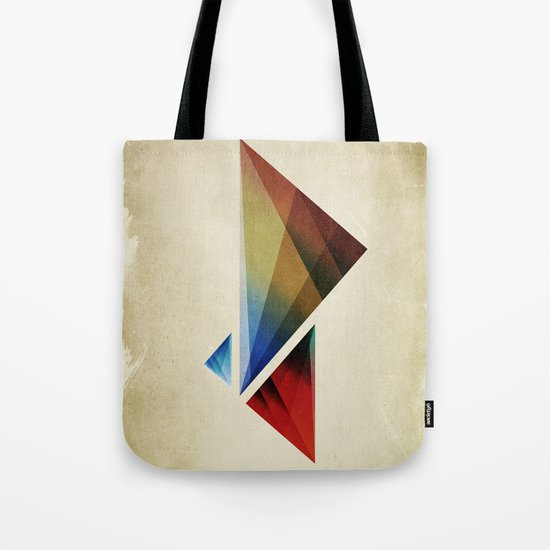 Triangularity Means We Dream in Geometric Colors Tote Bag