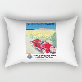 1929 SPAIN International Rally Exposition Of Barcelona Poster Rectangular Pillow