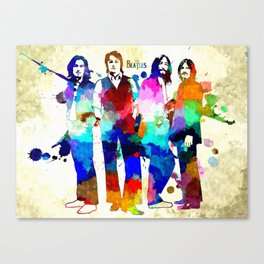 TheBeatles Grunge Canvas Print