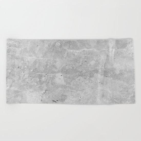 Gray Concrete Beach Towel