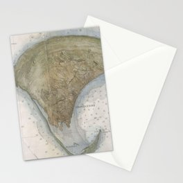 Vintage Map of Provincetown Stationery Cards