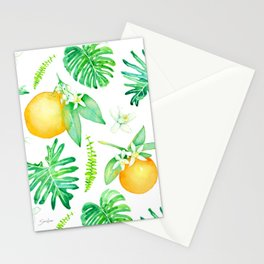 Citrus Tropics - White Stationery Cards