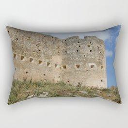 Mediterranean Fort Castle Rectangular Pillow