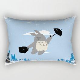Totoro Poppins Rectangular Pillow