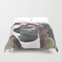 courage Duvet Covers featuring Courage by Pia Hakko