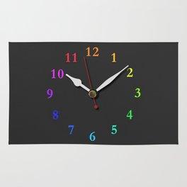 clock Chalkboard Rug