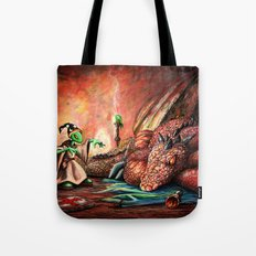 Magician and the Dragon Tote Bag