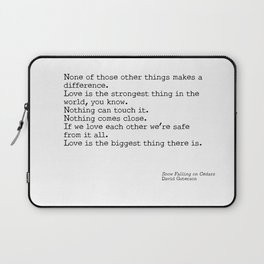 Love is the biggest thing Laptop Sleeve