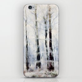 Winter landscape Aquarell iPhone Skin