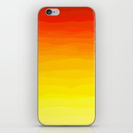 Red to Yellow Sunset iPhone Skin