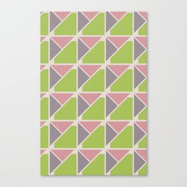 Retro Geometry surface pattern (Pink-green) Canvas Print