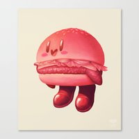 kirby Canvas Prints featuring Kirby Patty by Vaughn Pinpin