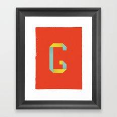 G 001 Framed Art Print