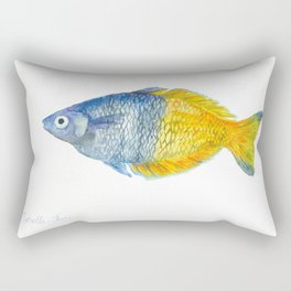 Blue and yellow fish Rectangular Pillow