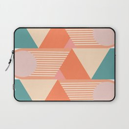 Retro Geometric Beach Vibes Laptop Sleeve