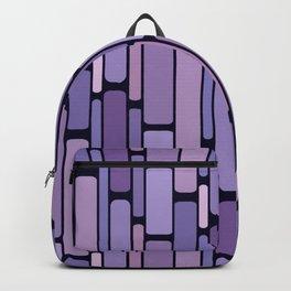 Retro Blocks Lavender Backpack