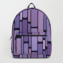 Retro Blocks Lavender Backpack