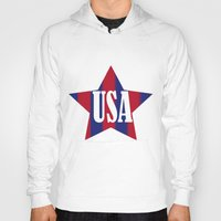 usa Hoodies featuring USA by Caio Trindade