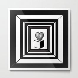 heart maze . Metal Print