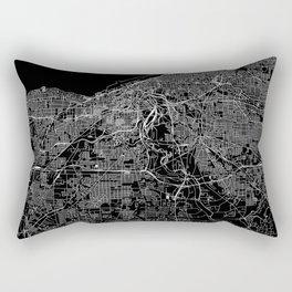 Cleveland Black Map Rectangular Pillow